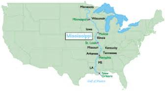 United States Map Mississippi River by United States Mississippi River Map Submited Images