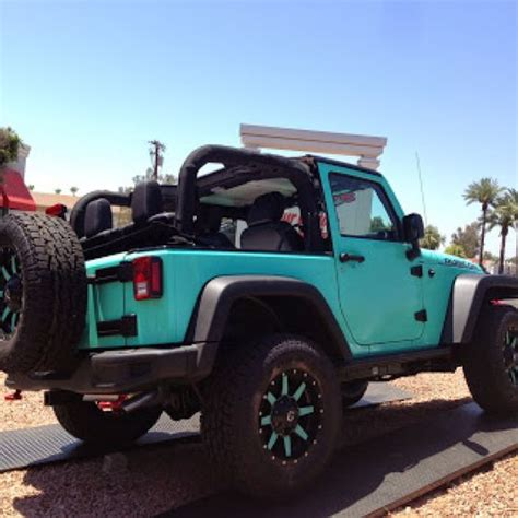 jeep wrangler teal tiffany blue 2 door jeep rubicon fuel offroad wheels