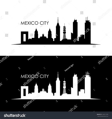imagenes vectores de arquitectura mexico city skyline vector illustration vectores en stock