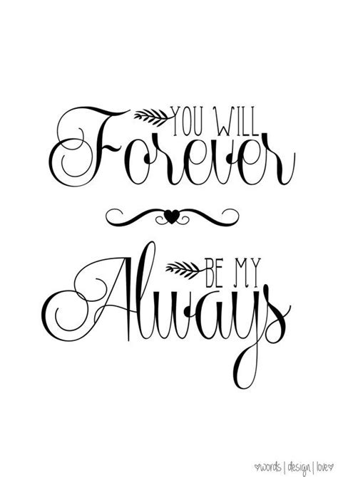 you will forever be my always vintage style print