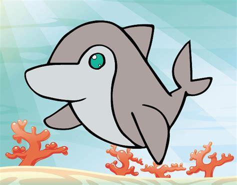 imagenes de animalitos kawaii dibujo de delfin kawaii pintado por en dibujos net el d 237 a