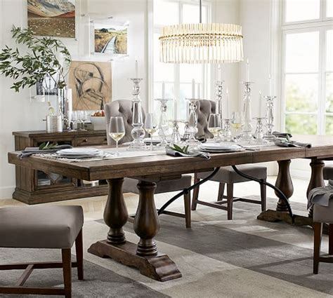 pottery barn dining tables lorraine extending dining table pottery barn