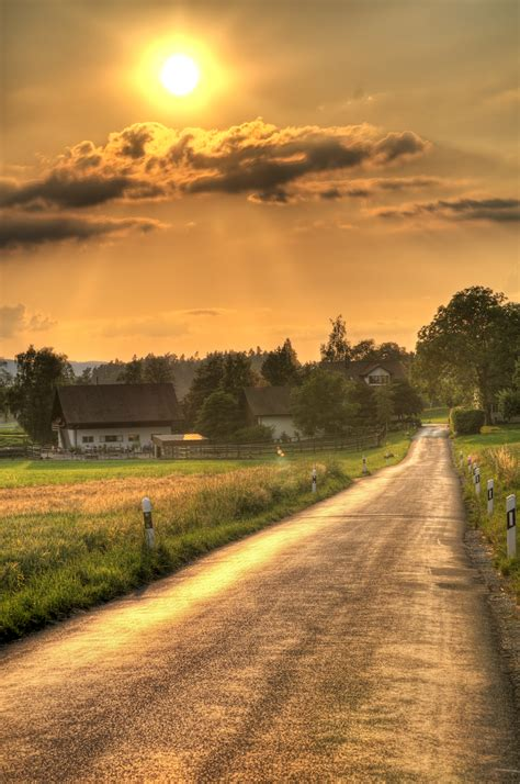 a country road a sunset road flickr photo sharing