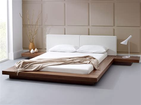 natural wood platform bed natural platform bed solid wood room decors and design