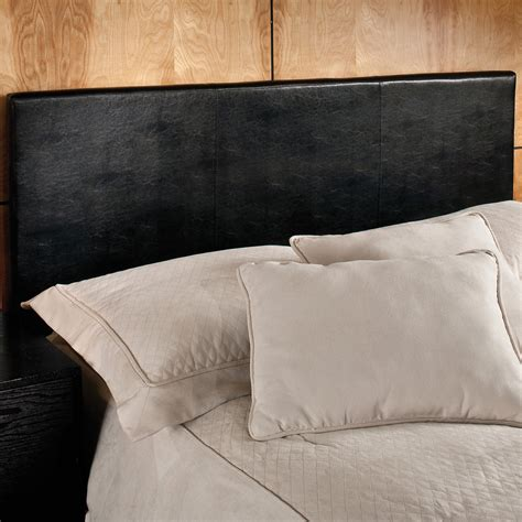 Upholstered Black Headboard Hillsdale Springfield Black Vinyl Upholstered Headboard Headboards At Hayneedle