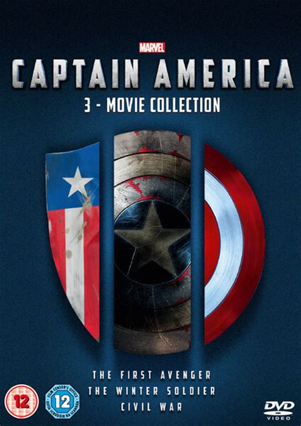 Captain America Boyset captain america 1 3 boxset dvd zavvi
