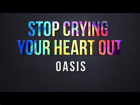 oasis stop crying your heart out official video youtube stop crying your heart out oasis lyrics youtube