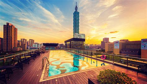 Lounge Chairs For Pool Area 3 Tantalizing Rooftop Pools In Taipei Forbes Travel