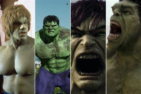 actor who plays hulk in the thor and avengers series of movies movie and tv characters who ve been played by multiple