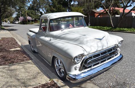 1957 chevy 3100 custom truck for sale freshly build 1957 chevrolet pickup custom cab big window