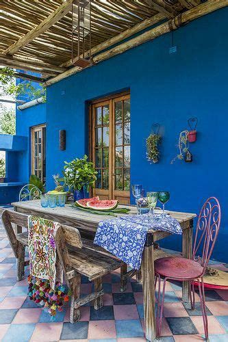 Wall Color 5593 by Mexican Patio Outdoorliving Outdoor Living Blue Garden