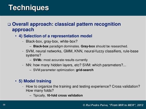 pattern recognition using svm from music information retrieval to music emotion recognition