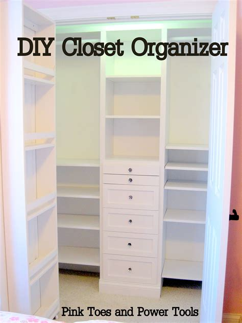 How To Make Closet Organizer by White Closet Organizer Diy Projects