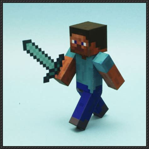 Minecraft Papercraft Steve - minecraft papercraft steve ver 3 free template