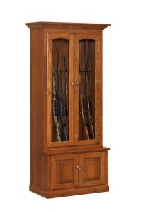 custom amish wooden gun cabinets and corner gun cabinets
