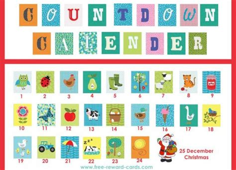free printable daily countdown calendar free countdown calendars website