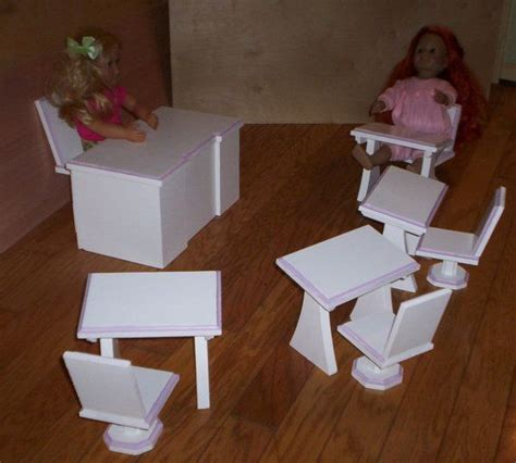 18 doll desk doll desk and 4 desks and chairs