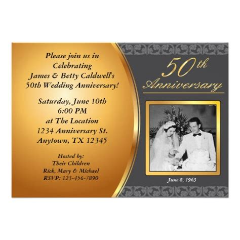 50th wedding anniversary templates personalized 50th anniversary invitations