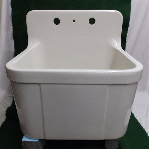 farm sink white porcelain vintage earthenware white porcelain single basin