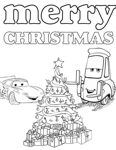 disneys cars christmas coloring page h m coloring pages