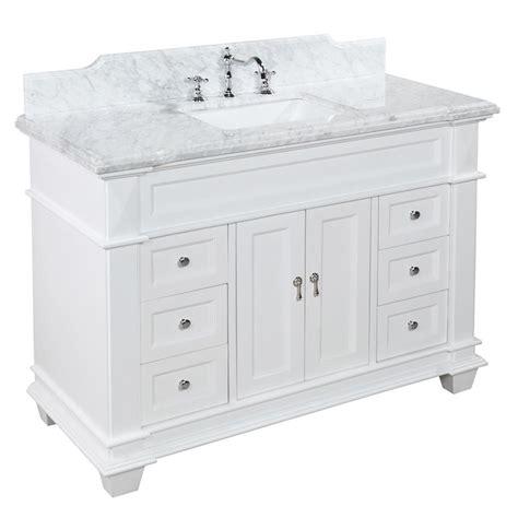 48 Inch White Bathroom Vanity Elizabeth 48 Inch Vanity Carrara White Kitchenbathcollection
