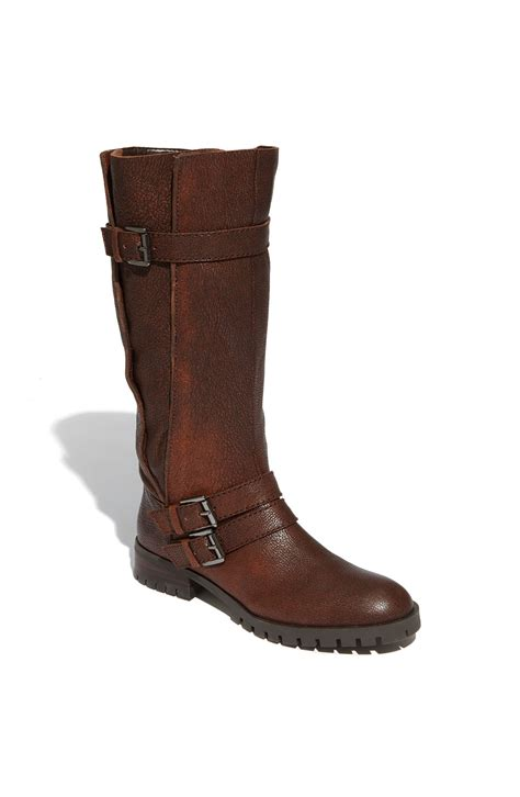 enzo boots enzo angiolini sten mid calf boot in brown cognac lyst