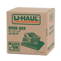 u haul moving supplies book box