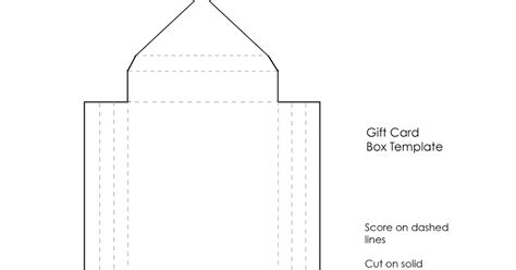 gift card box templates free thurstonpost small boxes tutorial part two gift card box