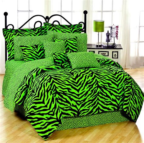 lime green comforter twin lime green zebra leopard combo complete comforter sheet