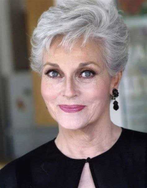 makeup for women with gray hair over 60 short hairstyles for women over 60 faceshairstylist com