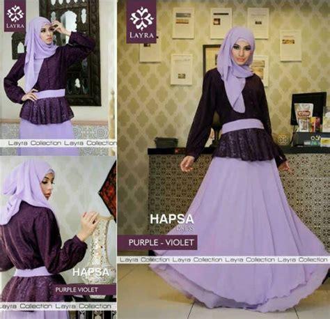Gamis Dress Baju Muslimah Violet Ummina hapsa by layra purple vio baju muslim gamis modern