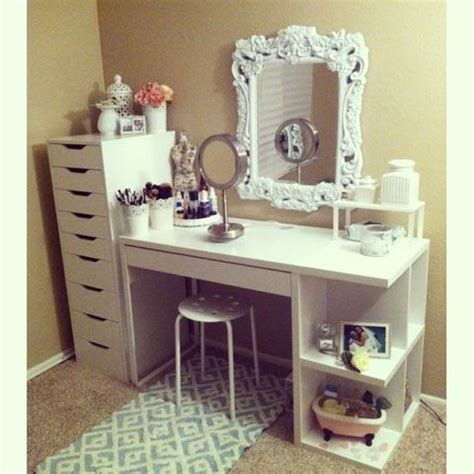 Diy Makeup Desk Fatima Magpusao Diy Ikea Makeup Vanity Diy Pinterest