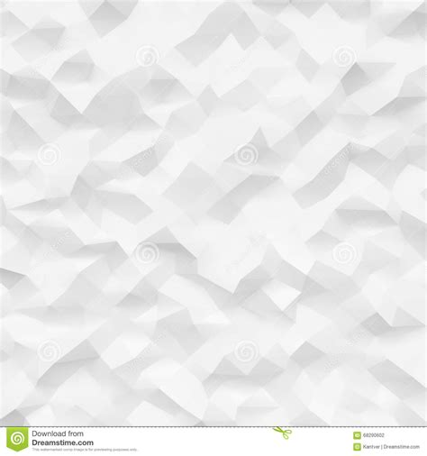 White Low Poly photo of highly detailed polygon white geometric rumpled