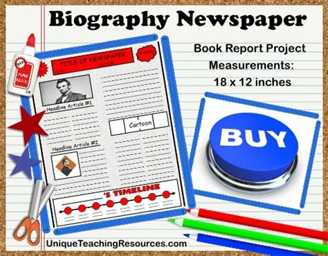 biography activities for elementary students biography book report newspaper templates worksheets