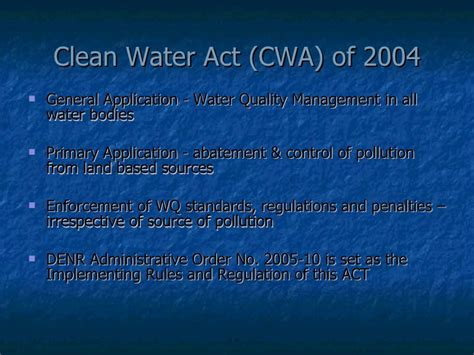 clean water act section 401 summary cwa