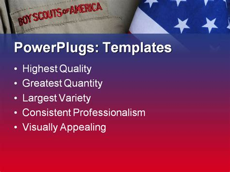 boy scout powerpoint template boy scout and united states flag powerpoint