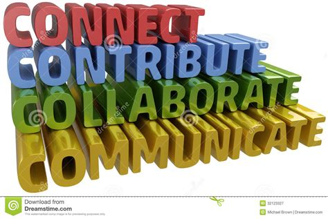 di commercio comunica connect collabora comunica contribuisce illustrazione di