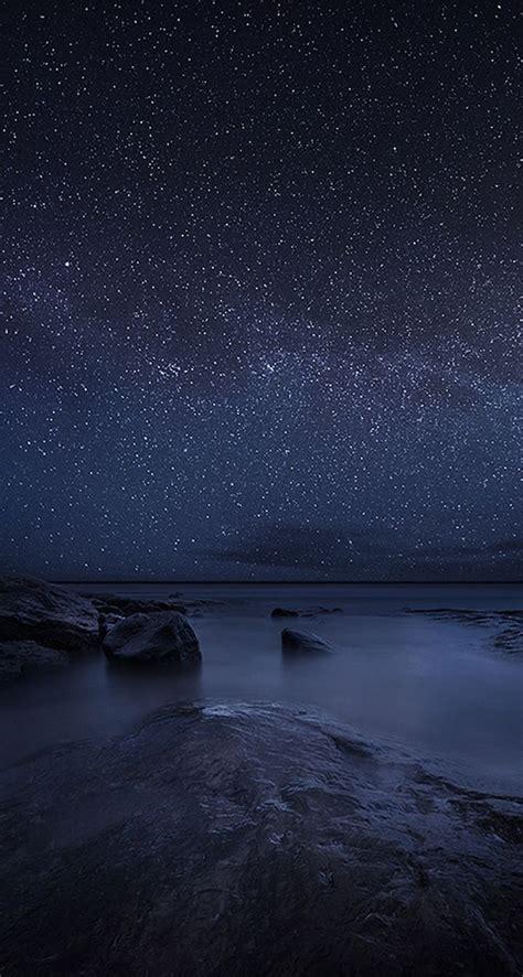 starry sky night lake beautiful iphone wallpapers