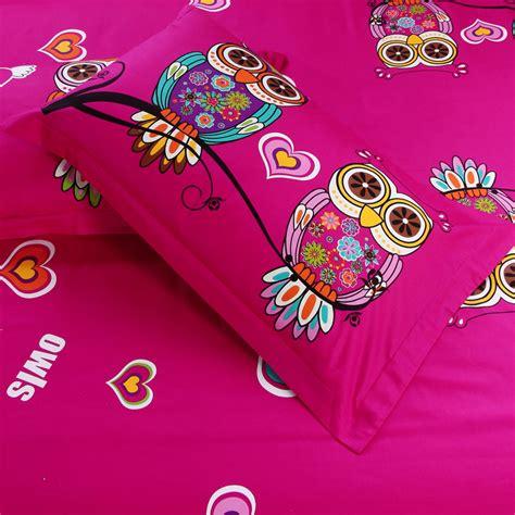 owl bedding set twin 100 cotton kids boys 3d owl bedding set twin queen king size bed linen bed sheet