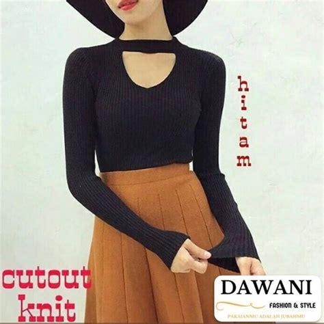 Dress Cutout Wanita jual sweater cut out sweater rajut knit wanita di lapak