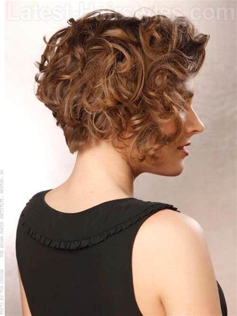 the back if an asymmetrical short curl haircuts 30 curly bob hairstyles that simply rock best curly bobs