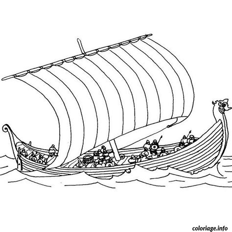 dessin bateau ulysse coloriage bateau viking jecolorie