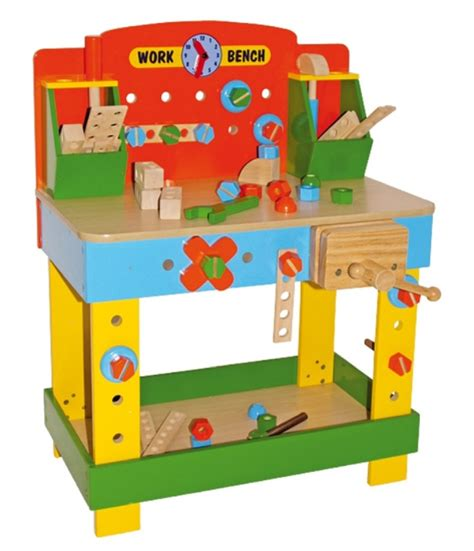 children s tobi wooden work bench wooden toy workbench
