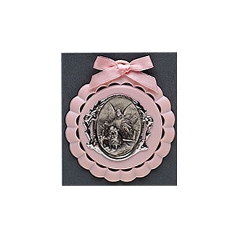 Crib Medals by Crib Medal Pink The Catholic Company