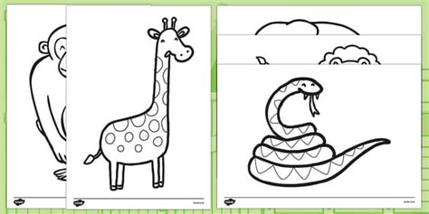 dear zoo coloring page colouring sheets to support teaching on dear zoo dear