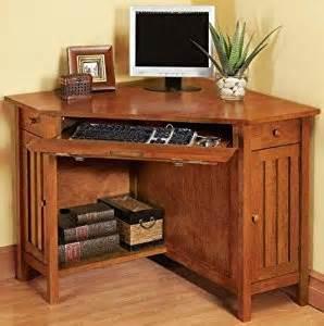 Mission Style Desks For Home Office Mission Style Corner Computer Desk W Door Corner Light Cherry Home Office