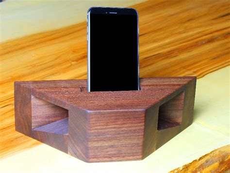 how to build a charging station how to build a wooden phone amplifier and charging station