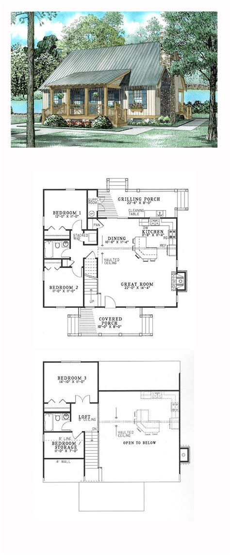 hillside house plans with walkout basement hillside house plan 62115 total living area 1374 sq ft