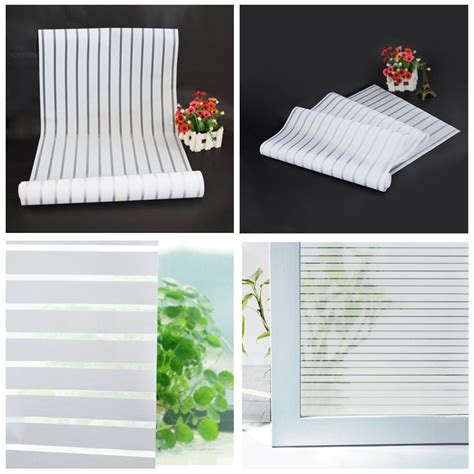 Hot Sale 40x200cm Glass Window Film Frosted Privacy Decorative Privacy Door Glass Cling