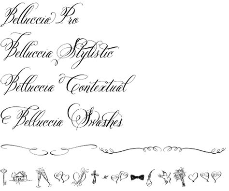 Wedding Fonts On Publisher by Belluccia One Of The Best Font For Wedding Invitations